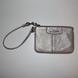 Silver Coach Wristlet / Wallet